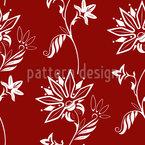 Folklore Blumen Nahtloses Vektormuster