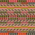 Toutes sortes de carrés ethno Motif Vectoriel Sans Couture