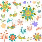 Pássaros de patchwork Design de padrão vetorial sem costura