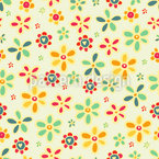 We Love All Flowers Seamless Vector Pattern Design