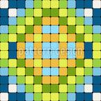 Steinfliesen Mosaik Nahtloses Vektormuster