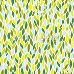 The Leaves Of The Weeping Willow Seamless Vector Pattern Design