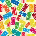 We Play Dominoes Seamless Vector Pattern Design