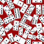 Casino Domino Seamless Vector Pattern Design
