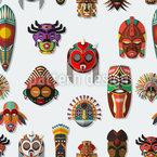 Masken An Der Wand Nahtloses Vektormuster