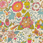 Bunny In Märchengarten Pattern Design