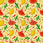 Senorita Chili Seamless Vector Pattern Design