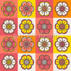 Bohemian Flower Patchwork Vector Pattern