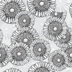 Sun Flowers Grey Repeat Pattern