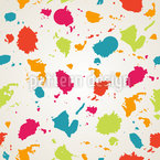 Colorful Blots Seamless Vector Pattern Design