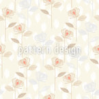 Rose Garden Of The Fifties Seamless Vector Pattern Design