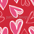 Heart For Heart Seamless Vector Pattern Design