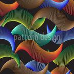Wave Illusion Seamless Vector Pattern Design