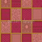 Crochet Patchwork Seamless Vector Pattern Design