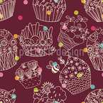 Basket Full Of Bunnies Seamless Vector Pattern Design