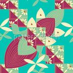 Blumen Flügel Nahtloses Vektormuster