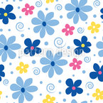 Blumen Freude Nahtloses Vektormuster