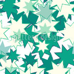 Wild Retro Stars Seamless Vector Pattern Design