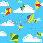 Drachen Am Himmel Muster Design