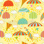 Umbrella Weather Seamless Vector Pattern Design