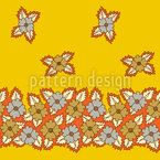Floral Bed Seamless Vector Pattern Design