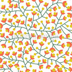 Nordic Summer Bloom Seamless Vector Pattern Design