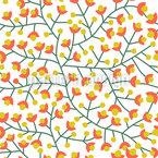 Nordische Sommer Blüte Nahtloses Vektormuster