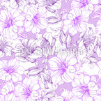 Hibiscus Splendor Seamless Vector Pattern Design