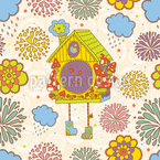Cuckoo Clock Vector Pattern