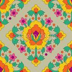 Mittelalterliche Blumen Vektor Design