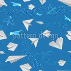 Papier Flieger Nahtloses Vektormuster