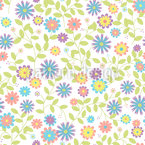 Floral Morning Song Seamless Vector Pattern Design