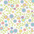 Florales Morgenlied Designmuster