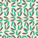 Tropical Leaves Vector Ornament