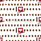 I Love Coffee Seamless Vector Pattern Design