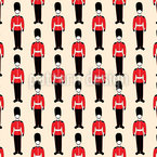 British Parade Seamless Vector Pattern
