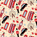 Trip To London Seamless Vector Pattern Design