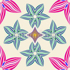 Symmetry And Flowers Seamless Vector Pattern Design