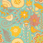 Birds Paradise Seamless Vector Pattern Design