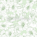 Hibiscus Bloom Seamless Vector Pattern Design
