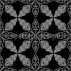 Moroccan Black Seamless Vector Pattern Design