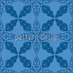 Moroccan Blue Seamless Vector Pattern Design