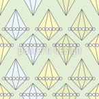 Perlen Und Diamanten Nahtloses Vektormuster