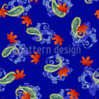 Paisley Leaf Melange Seamless Vector Pattern Design