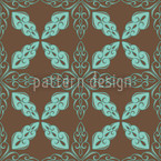 Moroccan Mint Seamless Vector Pattern Design
