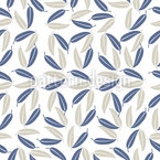 Hawaiian Leaves Seamless Vector Pattern Design