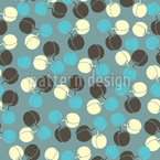 Peaches Seamless Vector Pattern Design