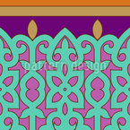 Oriental Border Seamless Vector Pattern Design