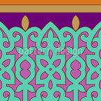 Orientalische Bordüre Nahtloses Vektormuster