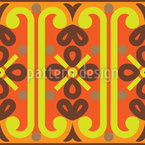 Oriental Ethno Bordure Seamless Vector Pattern Design
